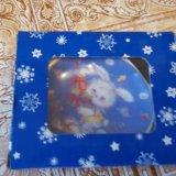 Розетка-подставка под чайный пакетик, фарфор. Фото 2.