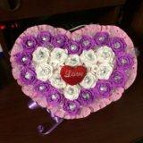"""Букет из конфет"""" сердце"""". Фото 1."""