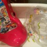 Ванночка для купания , горка и круг для новорожден. Фото 1. Москва.
