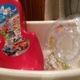 Ванночка для купания , горка и круг для новорожден. Фото 2. Москва.