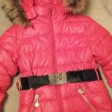 Зимнее пальто р-р 134-140. Фото 2. Подольск.