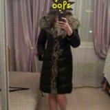 Зимнее кожаное пальто. Фото 1.