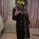 Зимнее кожаное пальто. Фото 3.