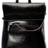 Женский рюкзак-сумка из натуральной кожи. Фото 4.