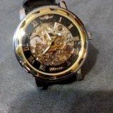 Механические часы winner hollow skeleton. Фото 1.