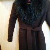 Пальто весеннее с натуральным мехом. Фото 3. Бор.