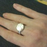 Серебряное кольцо морган. Фото 2.