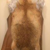 Меховой жилет  из лисы. Фото 4.