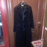 Пальто демисезонное черное. Фото 1.