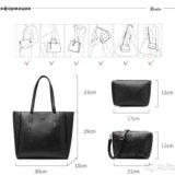 Сумка женская и сумочки (набор из 3 шт.). Фото 3. Москва.