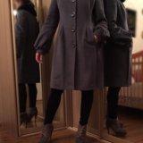 Пальто с мехом шерстяное. Фото 1.