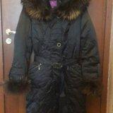 Зимнее пальто пуховик. Фото 1.