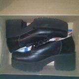 Кожаные ботинки. Фото 1.