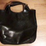 Объемная кожаная сумка. Фото 4. Орел.
