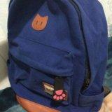 Портфель с ушками рюкзак кошка школьный новый. Фото 3.