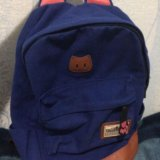 Портфель с ушками рюкзак кошка школьный новый. Фото 1.