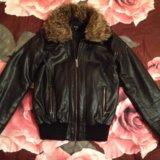 Кожаная куртка с мехом. Фото 2.