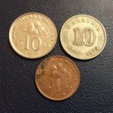 Монеты малайзии. Фото 1.