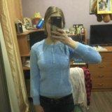 Пушистый свитер голубой. Фото 3.