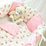 Бортики-подушки текстильный набор в кроватку. Фото 1. Санкт-Петербург.
