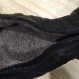 Ботфорты кожаные, натуральный мех. Фото 3. Москва.