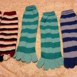 Носки  и  с пальцами. Фото 2.