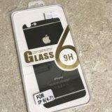 Заднее защитное стекло на iphone 6. Фото 1.