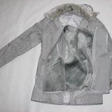 Куртка+меховая жилетка воротник манжетки. Фото 2. Сургут.