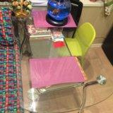 Стол стеклянный  кухонный. Фото 1.