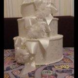 Коробка для денег на свадьбу  (торт). Фото 1. Москва.