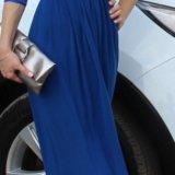 Платье в пол синее. Фото 1.