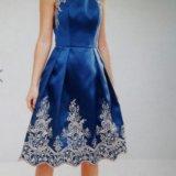 Вечернее платье миди 42-44р. chi chi london. Фото 1.
