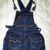 Джинсовый комбинезон-джинсы для беременных. Фото 1.