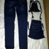 Джинсовый комбинезон-джинсы для беременных. Фото 3.