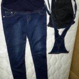 Джинсовый комбинезон-джинсы для беременных. Фото 4.