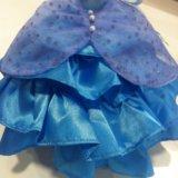 Платье для куклы, туфли в подарок. Фото 1.