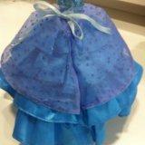 Платье для куклы, туфли в подарок. Фото 2.