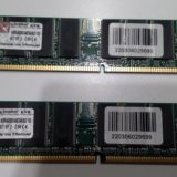 Память kit 2х512 mb ddr400 kingston kvr400x64c3ak2. Фото 1.