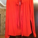 Рубашка ярко караловая. Фото 1.