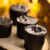 Чёрные свечи ручной работы. Фото 1.