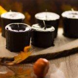 Чёрные свечи ручной работы. Фото 4.