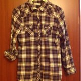 Фланелевая рубашка 44-46 размер. Фото 1.