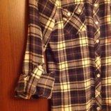 Фланелевая рубашка 44-46 размер. Фото 3.