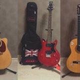 3 гитары: электроакустич., электро, классическая. Фото 1.