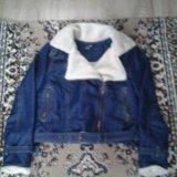 Утепленная джинсовая курточка женская 46-48. Фото 1. Тула.