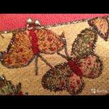 Клатч с бабочками  новый. Фото 1.