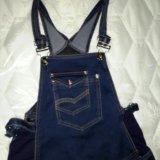 Джинсовый комбинезон-джинсы для беременных. Фото 2.
