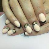 Маникюр, гель лак, наращивание ногтей. Фото 4.