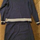 Костюм трикотажный юбка с кофтой. Фото 3.