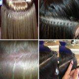 Коррекция нарощенных волос. Фото 1.